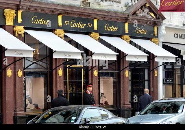 London, England, UK. Cartier shop in Bond Street - Stock Image