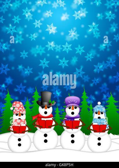 Snowman bonnet stock photos snowman bonnet stock images alamy music christmas snowman stock image voltagebd Images