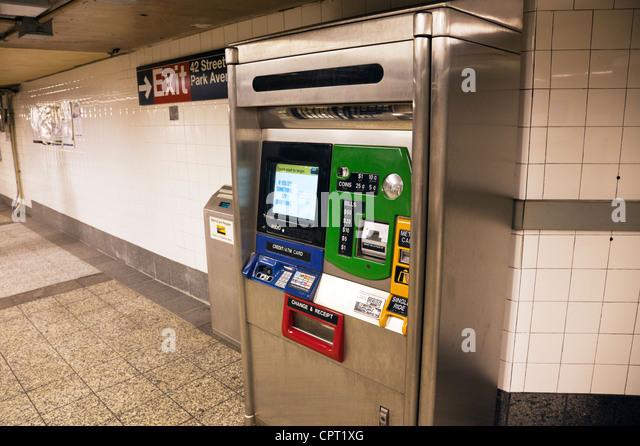 nyc subway ticket machine