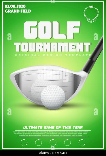 Poster Template of Golf Tournament - Stock Image
