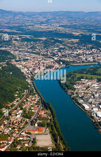 Chasse-sur-Rhone France  city photos : Rhone River Aerial View Stock Photos & Rhone River Aerial View Stock ...