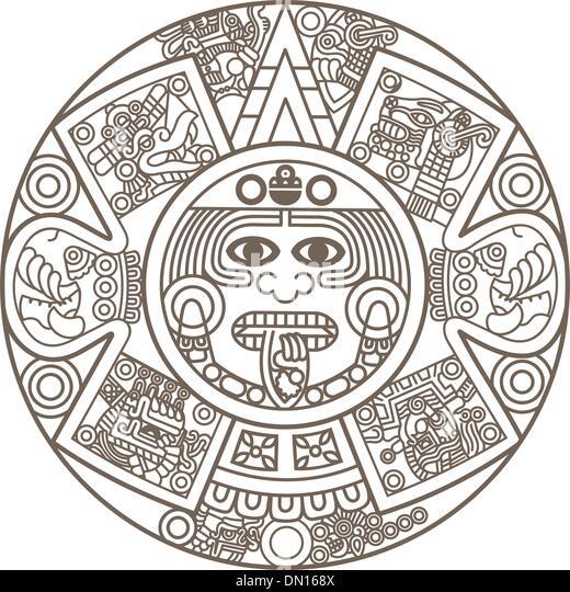 Aztec Calendar Stock Photos  Aztec Calendar Stock Images  Alamy
