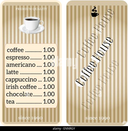 Coffee shop price sign stock photos coffee shop price for Coffee price list template