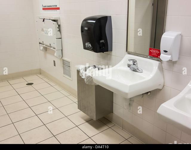 Public Bathroom Mirror public bathroom stock photos & public bathroom stock images - alamy
