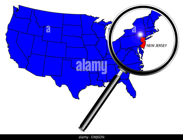 New Jersey State Map Stock Photos New Jersey State Map Stock - New jersey on us map