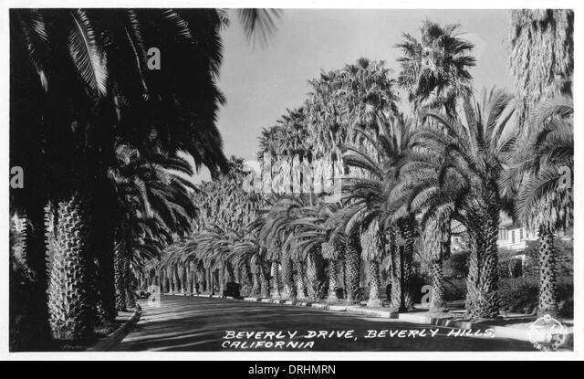 Beverly Drive, Beverly Hills, Hollywood, California, USA - Stock Image