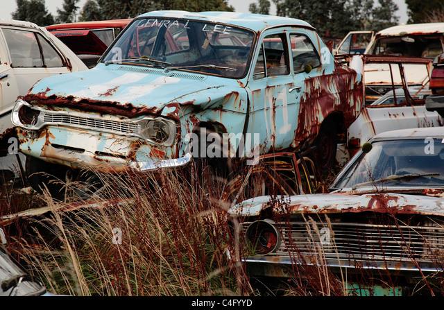 Rusty Old Car Scrap Yard Stock Photos Rusty Old Car Scrap Yard