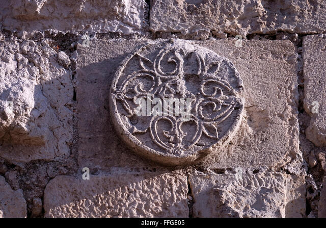 Carved stone surround stock photos