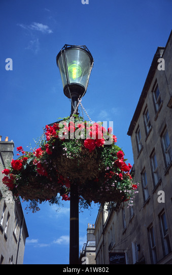 Hanging Flower Baskets Vancouver Wa : Lamp post hanging flower basket stock photos