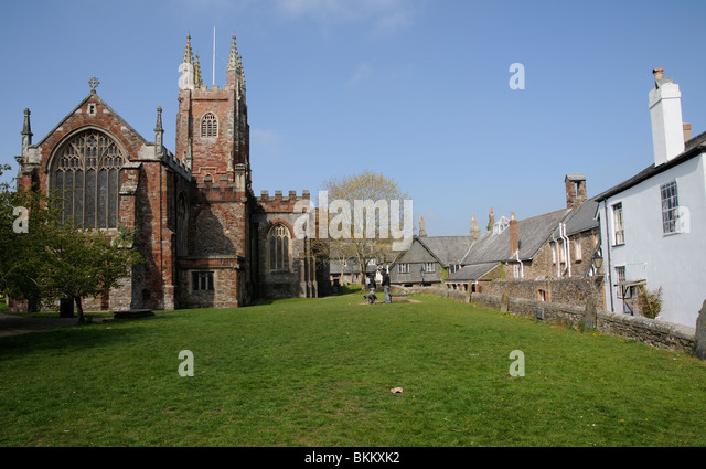 Hawkchurch United Kingdom  city photo : St Marys Parish & Priory Church on Guildhall Green in Totnes south ...