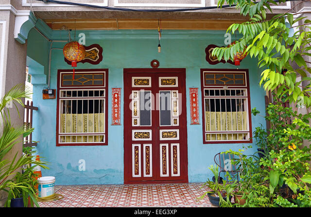 Georgetown penang house door stock photos georgetown for Classic house kl