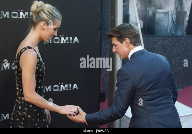 Madrid, Spain. 29th May, 2017. Annabelle Wallis and Tom Cruise attend 'The Mummy' premiere at Callao Cinema - Stock Image