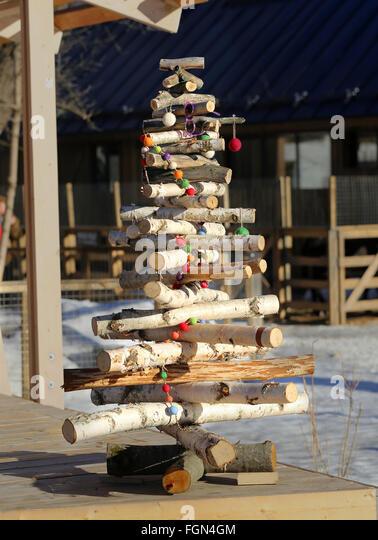 Birch Christmas Tree Stock Photos & Birch Christmas Tree Stock ...