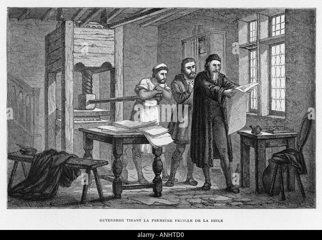 johannes gutenberg printing press essay