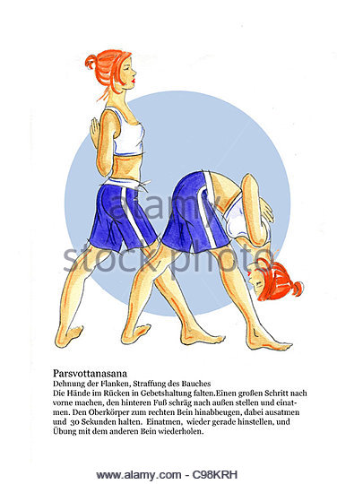 yoga 1 parsvottanasana strain the flanks firming of abdomen yoga yoga figur stock image - Ausatmen Fans Usa