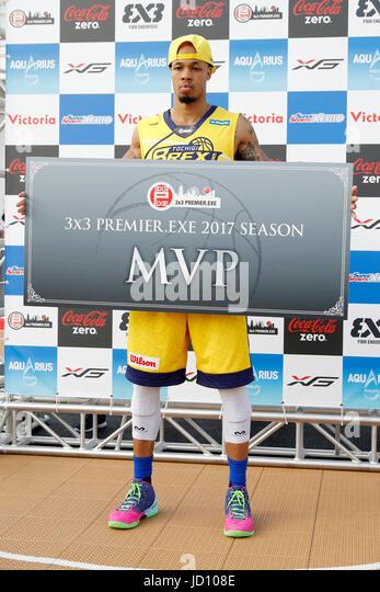 Tokyo, Japan. 17th June, 2017. (BREX.EXE) Basketball : 33 PREMIER.EXE 2017 Season TACHIKAWA Eastrn Conference Award - Stock Image