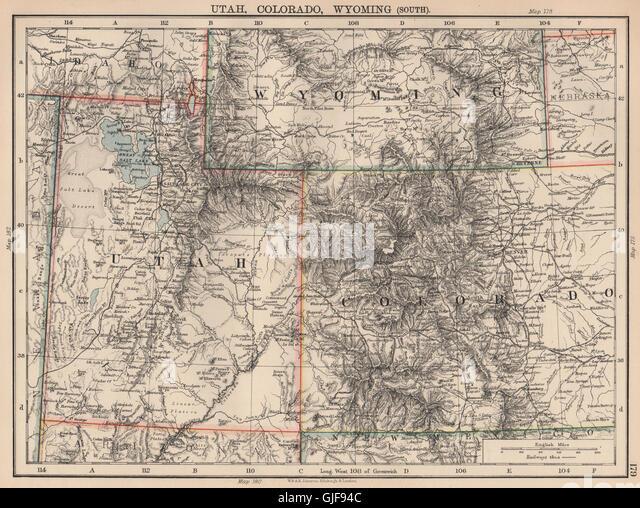 Utah Colorado South Wyoming Railroads Johnston 1906