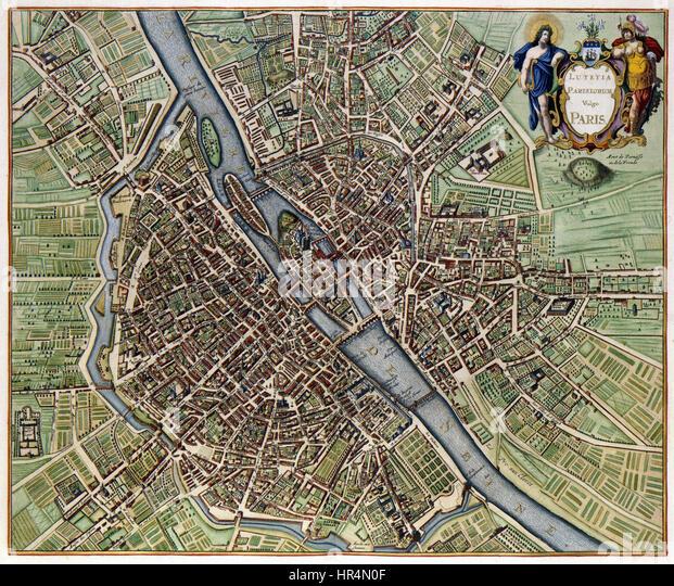 Plan Of Paris Photos Plan Of Paris Images Alamy – Plan De Paris Map