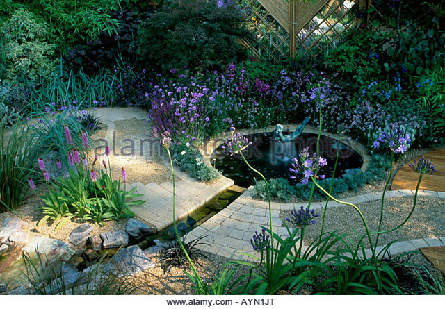 Feng Shui Backyard Pond : Garden Pond Stock Photos & Garden Pond Stock Images  Alamy