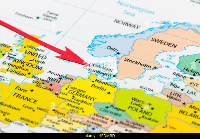 Close Up European Continent World Map Photos Close Up – Map of the European Continent