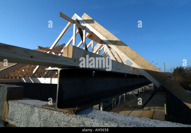 Steel lintel stock photos steel lintel stock images alamy for Prefabricated roof trusses