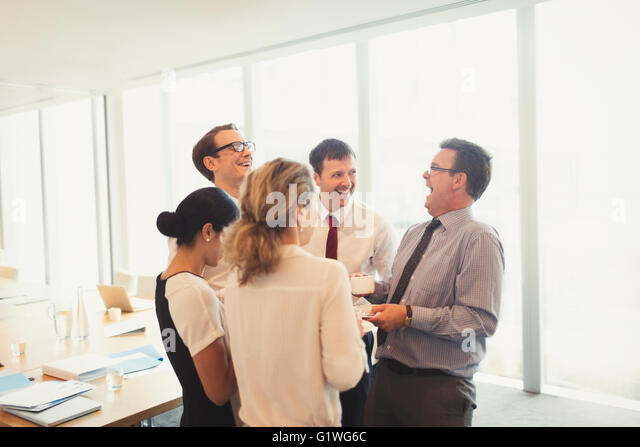 photo when hear people laughing conference room