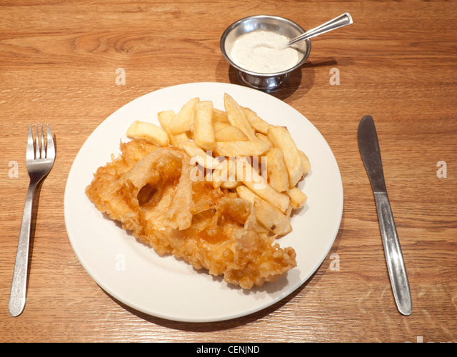 Cod n chips stock photos cod n chips stock images alamy for Fish and chips sauce