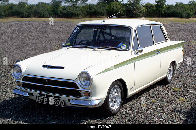 ford lotus cortina stock image