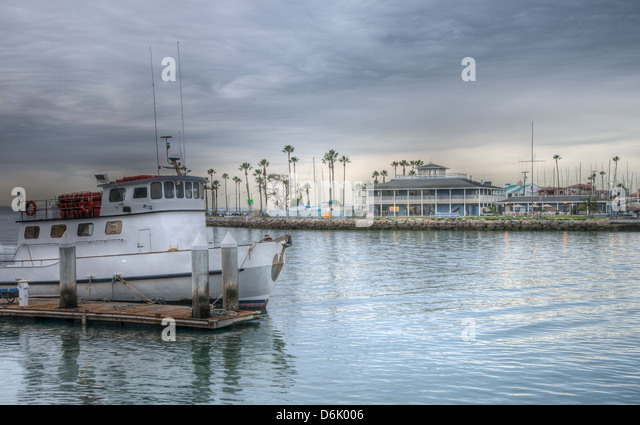 Long beach marina fishing boat stock photos long beach for Long beach fishing boat