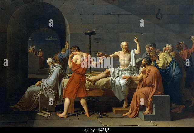 """death of socrates by jacques louis david essay In my essay i will analyze the historical picture """"the death of socrates"""" (oil on canvas, 51"""" х771/4 1787, metropolitan museum of art)."""