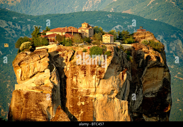 Monastery Holy Trinity Meteora Stock Photos & Monastery ...