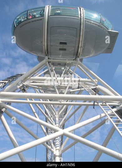 London Eye Passenger Pod Capsule Stock Photos & London Eye