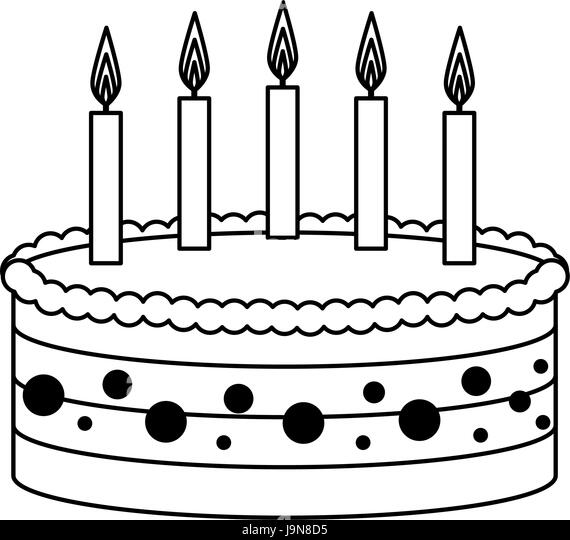 Birthday Cake Candles Black And White Stock Photos Images Alamy