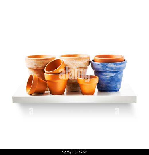Flower Pots On Shelf Shed Stock Photos & Flower Pots On ...