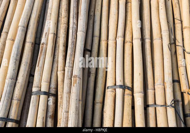 Bamboo building material stock photos bamboo building for Bamboo roofing materials