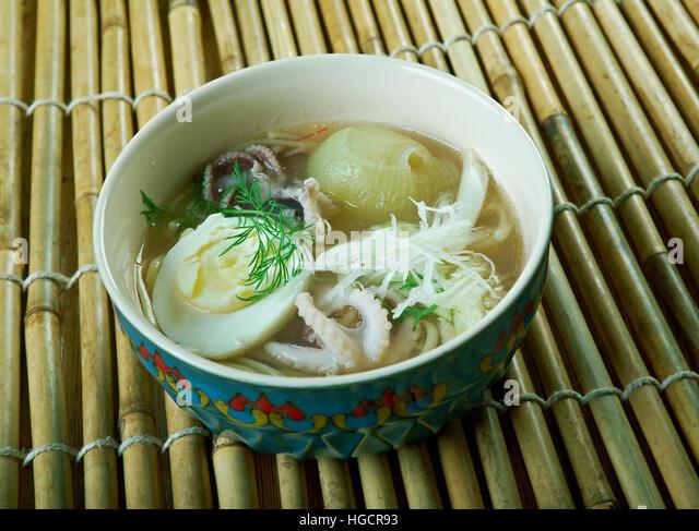 Burmese cuisine stock photos burmese cuisine stock for Rice noodle fish