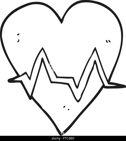 heart rate line black and white stock photos  u0026 images