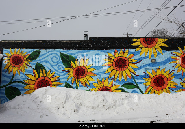 Flower mural stock photos flower mural stock images alamy for Mural of flowers