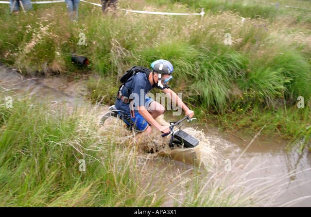 Mountain Bike Bog Snorkelling Championships Stock Photos