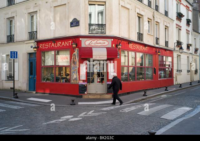 Butte aux cailles district stock photos butte aux cailles district stock images alamy - Restaurant buttes aux cailles ...