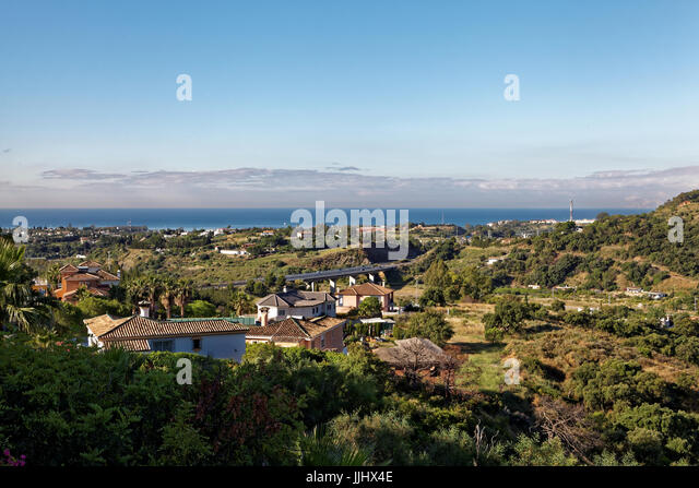 View of the coast at Estepona, Spain - Stock Image
