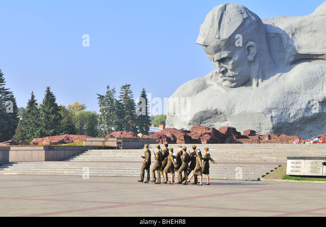 Cheap Guards Of Honor In Memorial Complex Of The Fortress Of Brest Belarus  Stock Image With Brest
