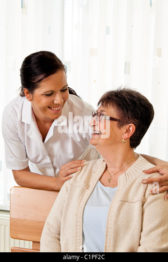 Nurse In Aged Care For The Elderly Nursing Homes