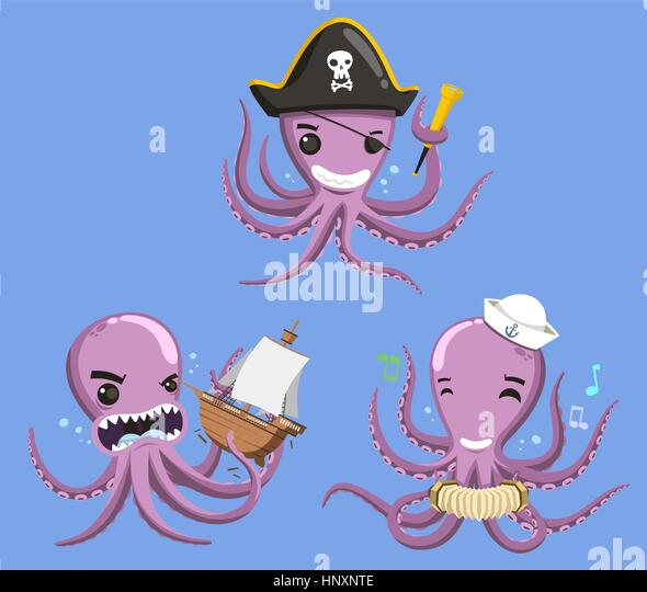 Cartoon octopus stock photos cartoon octopus stock for Octopus in cartoon