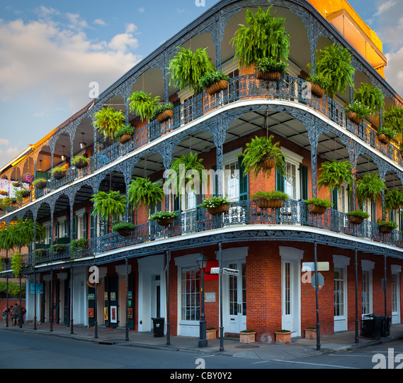 Balcony in french quarter stock photos balcony in french for French quarter balcony
