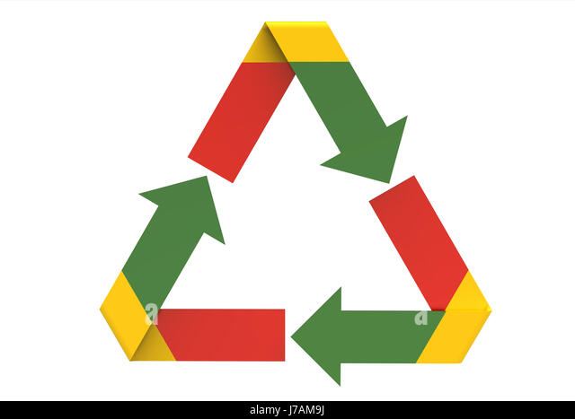 Recycling Symbol Multicolored Sign Environment Ecology Conservation