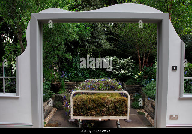 The Garden Bed, Artisan Garden, RHS Chelsea 2016   Stock Image