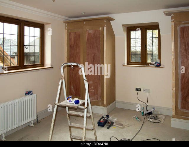 Fitted Wardrobes Stock Photos Fitted Wardrobes Stock Images Alamy - Fitted loft bedroom furniture