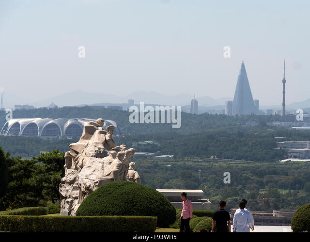 North Korea Pyongyang Martyrs Cemetery Stock Photos North Korea Pyongyang Martyrs Cemetery