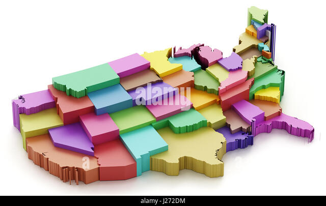 Oklahoma State Map Stock Photos Oklahoma State Map Stock Images - Colored usa map